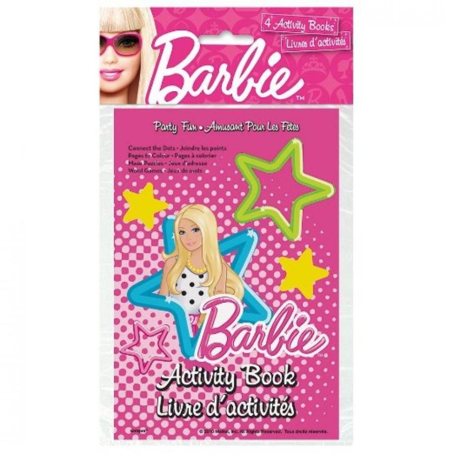 バービー人形 着せ替え おもちゃ Barbie Activity Books Favors, 4ct 輸入品