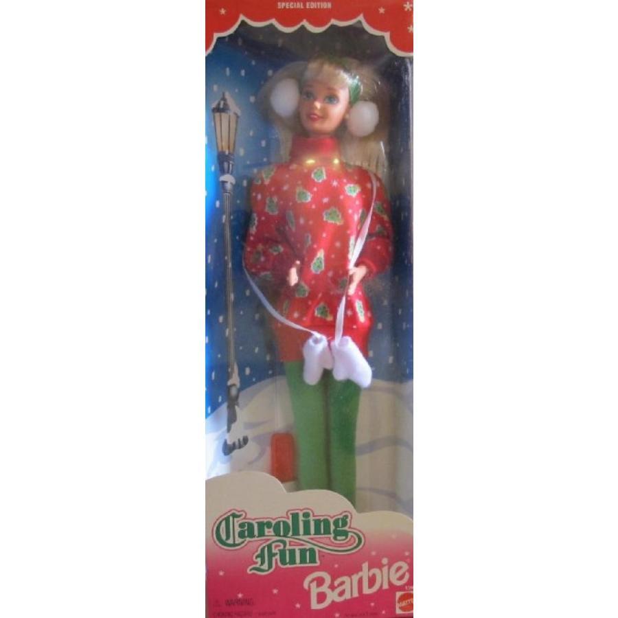 バービー人形 着せ替え おもちゃ BARBIE 'CAROLING FUN' Doll w Faux FUR EAR MUFFS & More SPECIAL EDITION (1995) 輸入品