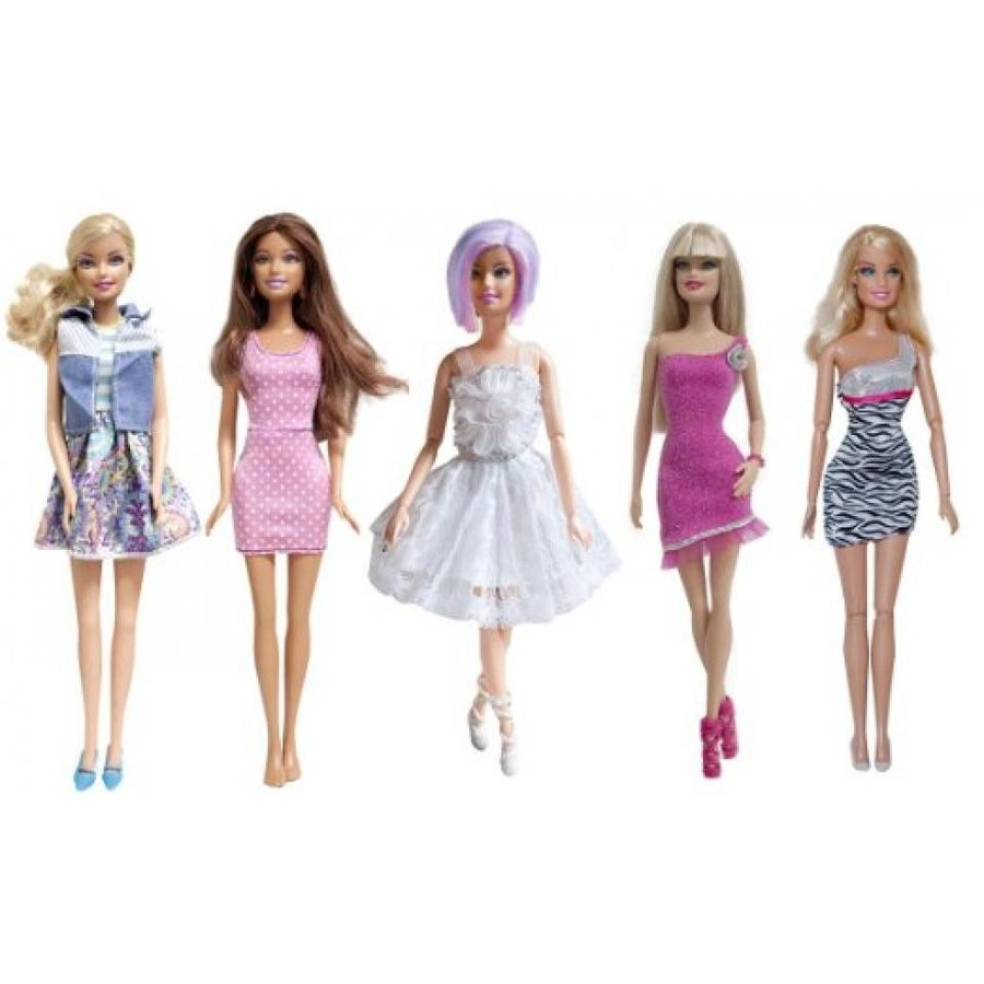 バービー人形 着せ替え おもちゃ Lot of 5 Barbie Dresses Clothes, Handmade Barbie Dresses - Dolls NOT Included 輸入品