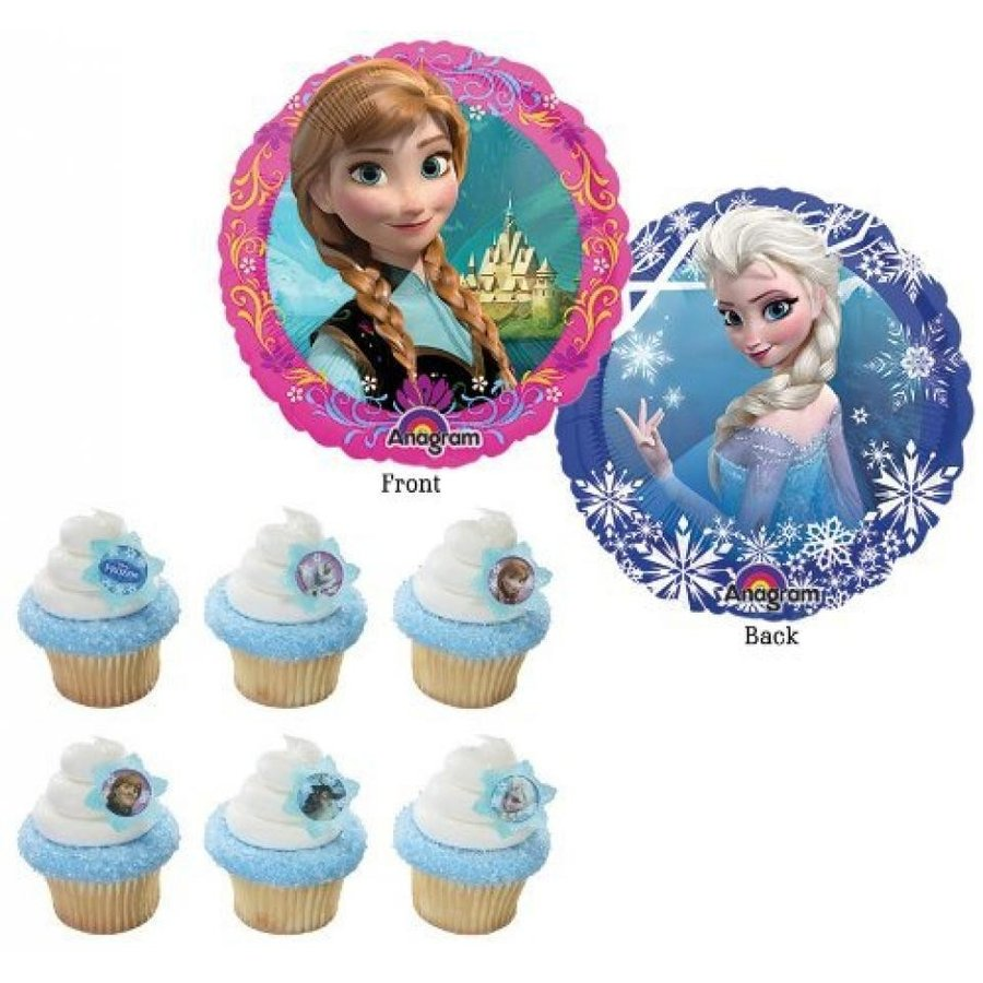 アナと雪の女王 おもちゃ フィギュア 12 Disney Frozen Cupcake Rings & 9