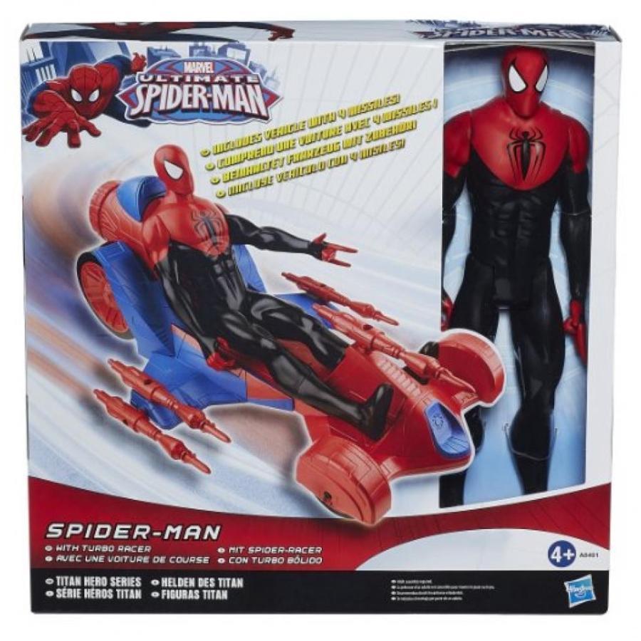 アベンジャーズ おもちゃ フィギュア Spiderman Titan Heroes Series Action Figure with Giant Spider Turbo Racer Car 輸入品