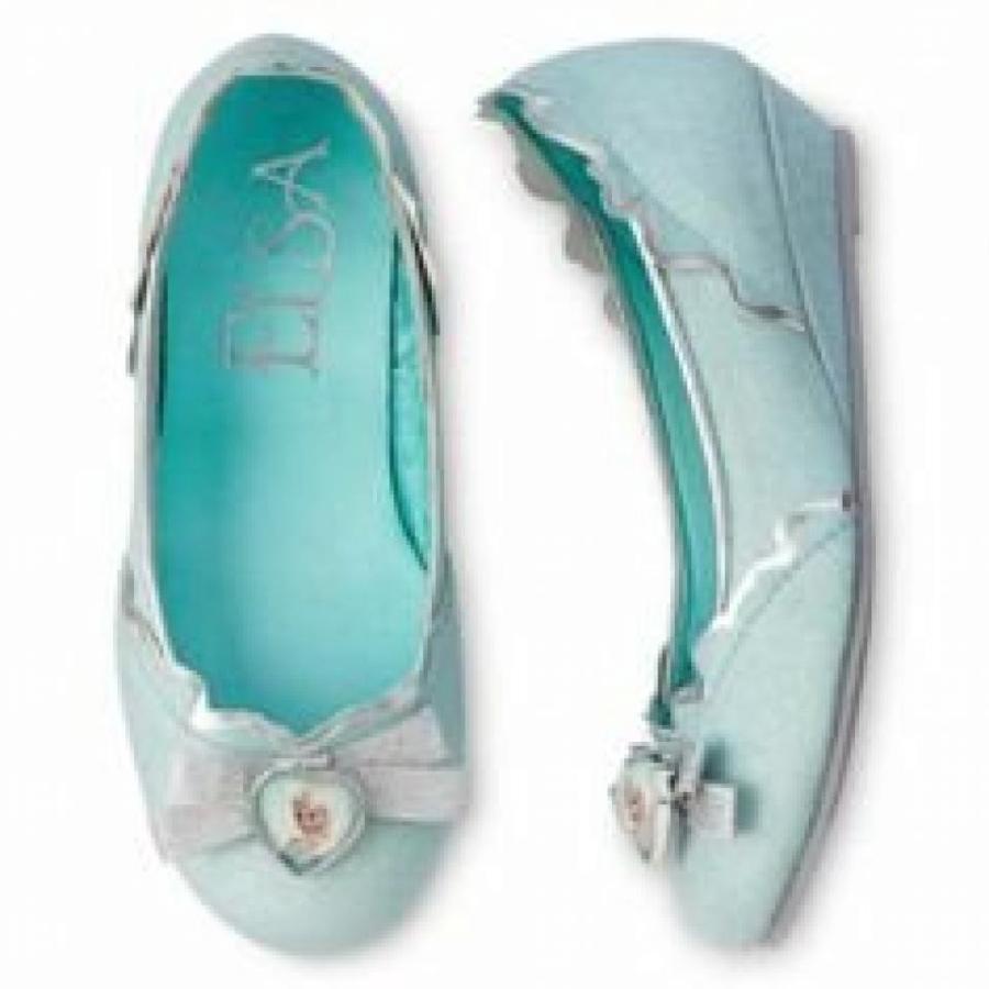 アナと雪の女王 おもちゃ フィギュア Disney Frozen Elsa Child Girl Shoe Size 7-8 Slippers Shoes Dress up Pretend Play 輸入品