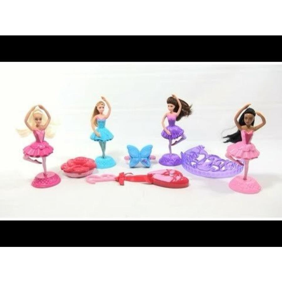 バービー人形 着せ替え おもちゃ Mcdonald's 2013 Barbie ピンク Shoes Complete Set of 8 Happy Meal Toys 輸入品