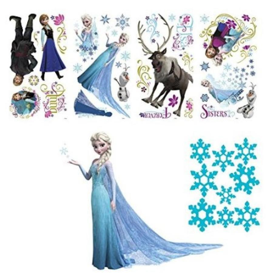 アナと雪の女王 おもちゃ フィギュア Frozen Peel and Stick Wall Decals and Snowflake Decal Bundles 輸入品