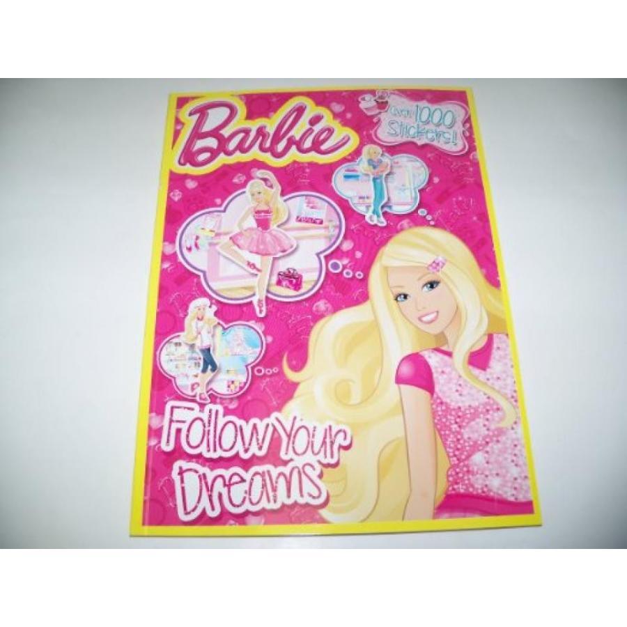 バービー人形 着せ替え おもちゃ Barbie Follow Your Dreams Coloring and Activity Book with Over 1,000 Stickers! (2014) 輸入品
