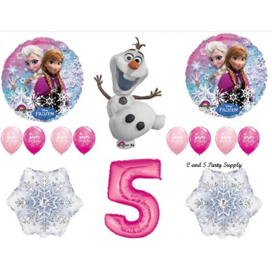 アナと雪の女王 おもちゃ フィギュア Frozen ピンク 5th Disney Movie BIRTHDAY PARTY Balloons Decorations Supplies 輸入品