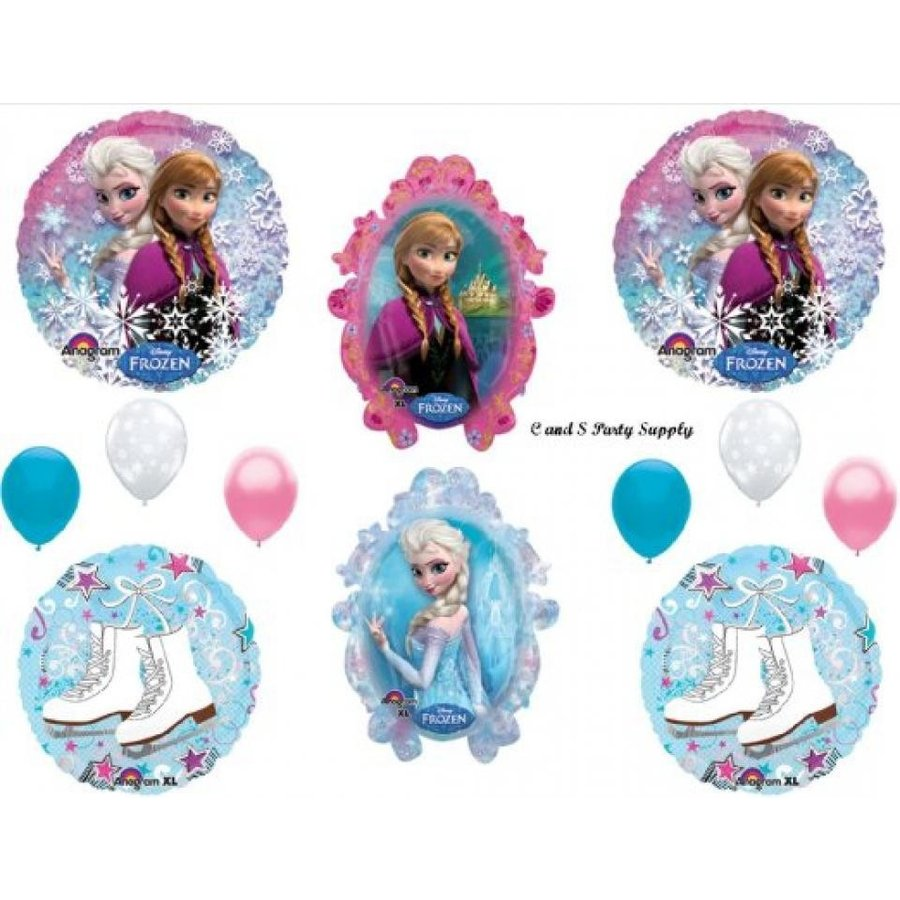 アナと雪の女王 おもちゃ フィギュア Frozen Ice Skates Disney Movie BIRTHDAY PARTY Balloons Decorations Supplies 輸入品