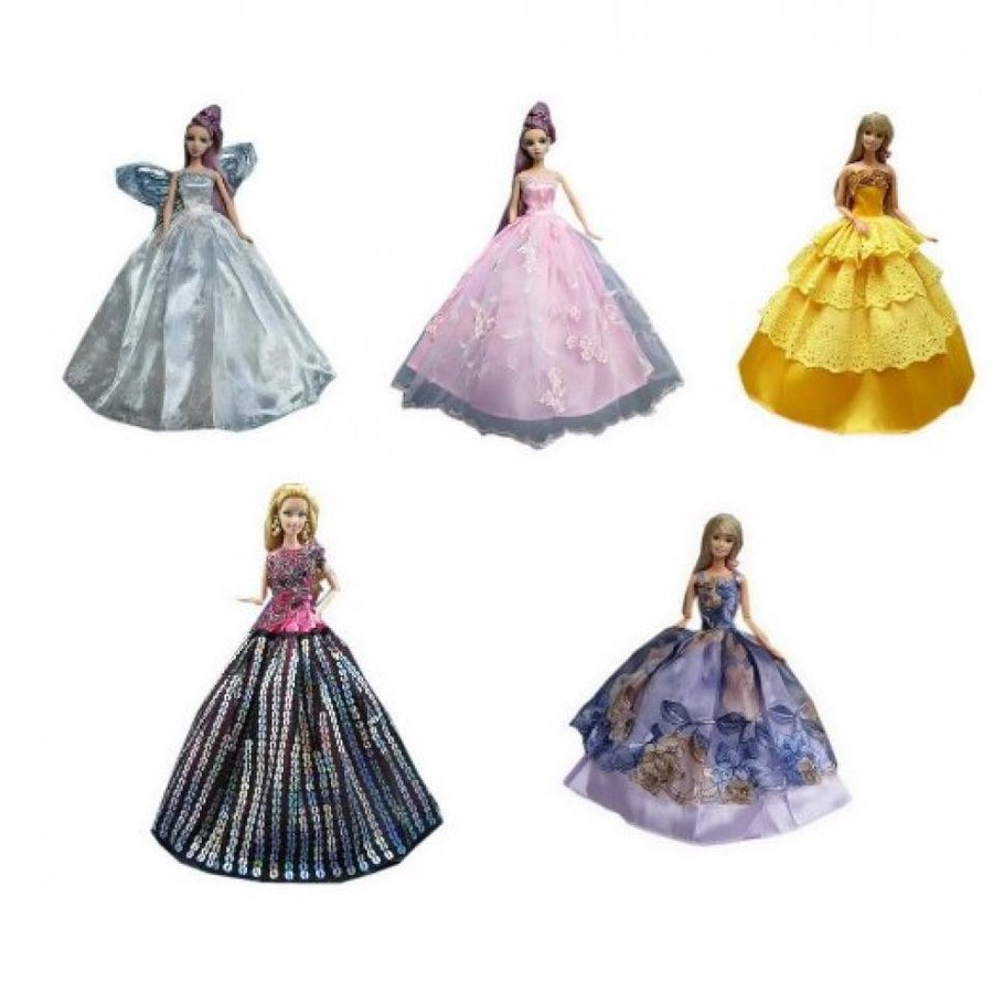 バービー人形 おもちゃ 着せ替え Set of 5 Dolls Dresses Cute Ball Gown for Barbie 11.5'' Dolls (Style May Vary) 輸入品