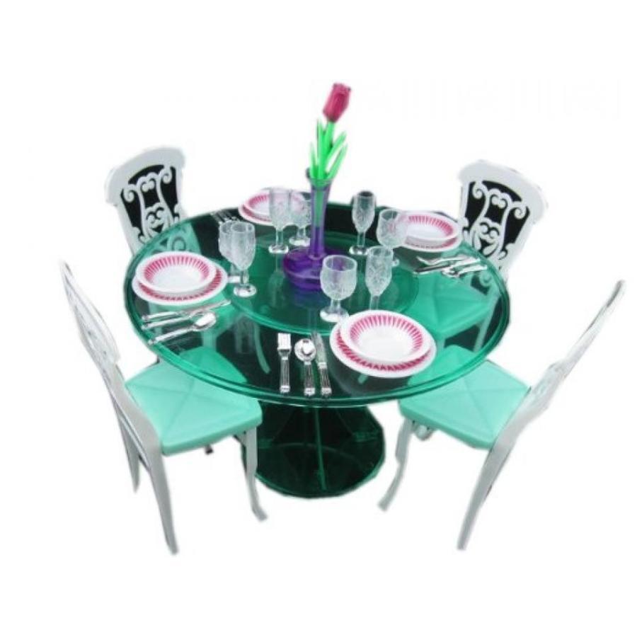 バービー人形 おもちゃ 着せ替え Barbie Doll House Fashion Dinner Table Set 輸入品