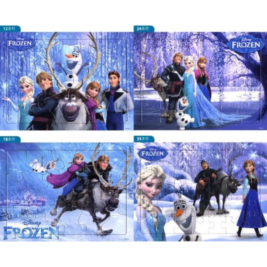 アナと雪の女王 おもちゃ フィギュア [Toy&puzzle] 12+18+24+35 BIG Piece Jigsaw Puzzles Walt Disney
