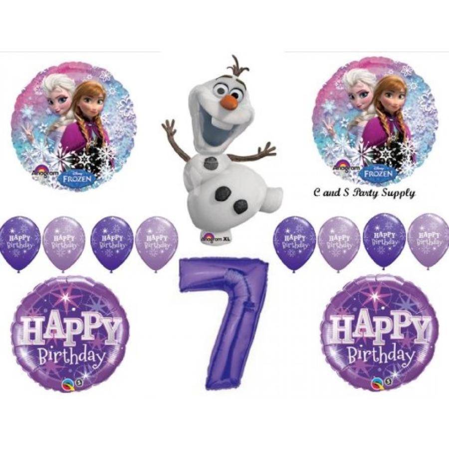 アナと雪の女王 おもちゃ フィギュア Frozen Olaf 紫の 7th Disney Movie BIRTHDAY PARTY Balloons Decorations Supplies 輸入品