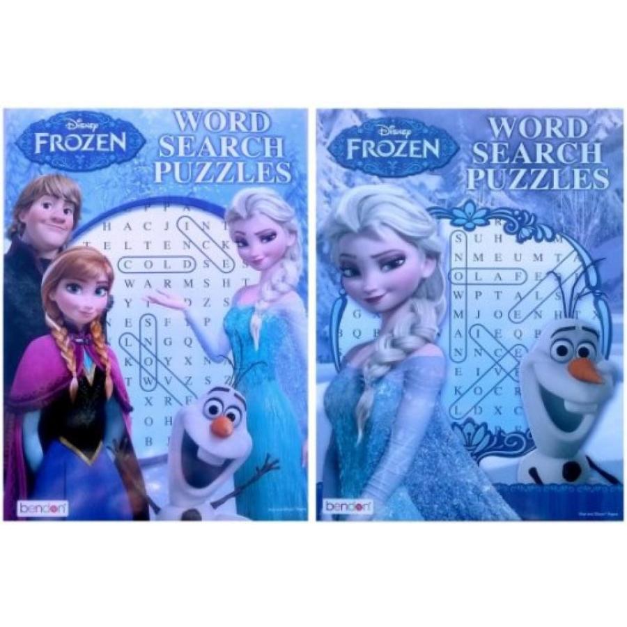 アナと雪の女王 おもちゃ フィギュア Disney Frozen Word Search Puzzles Book 輸入品