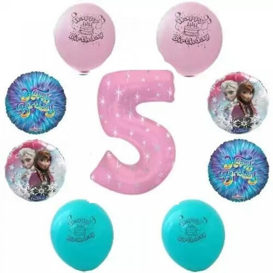 アナと雪の女王 おもちゃ フィギュア Disney Frozen Happy 5th Birthday ピンク Party Balloon Decoration Kit 輸入品