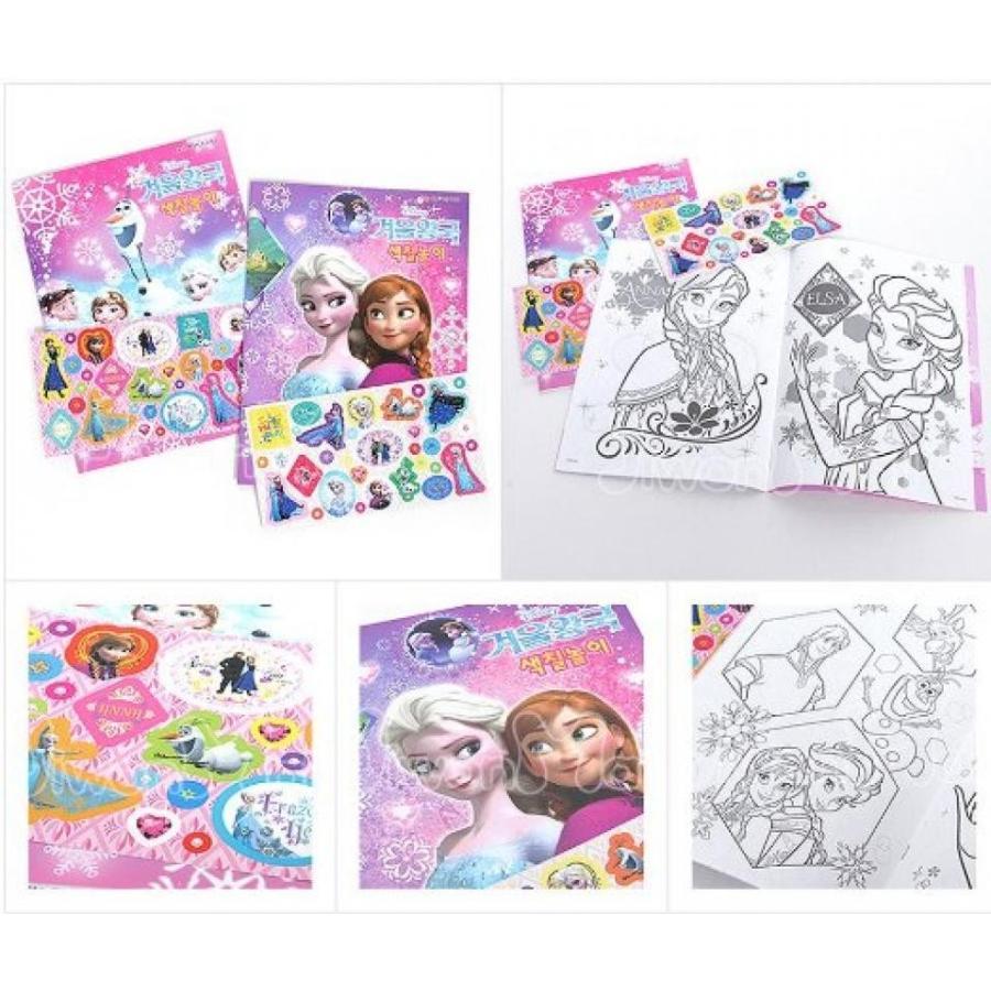 アナと雪の女王 おもちゃ フィギュア Disney Frozen Kid Sticker Coloring Game Book (2pcs) 輸入品