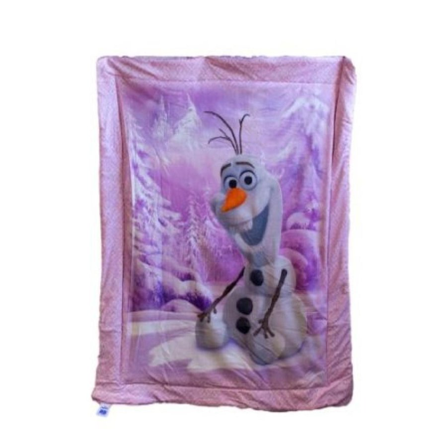 アナと雪の女王 おもちゃ フィギュア Disney Frozen featuring Olaf as the main print - ピンク Baby Blanket 41