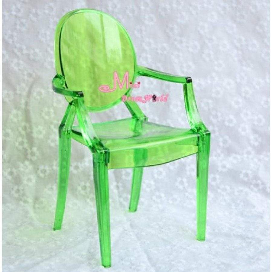 バービー人形 着せ替え おもちゃ 1/6 Barbie Blythe 緑 Tranparent Plastic Arm Toy Chair Dollhouse Miniature 輸入品