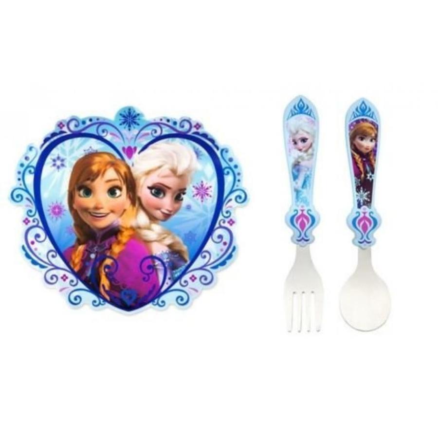 アナと雪の女王 おもちゃ フィギュア Disney Store Frozen Anna & Elsa Spoon Fork Flateware Set + Placemat Combo Deals 輸入品