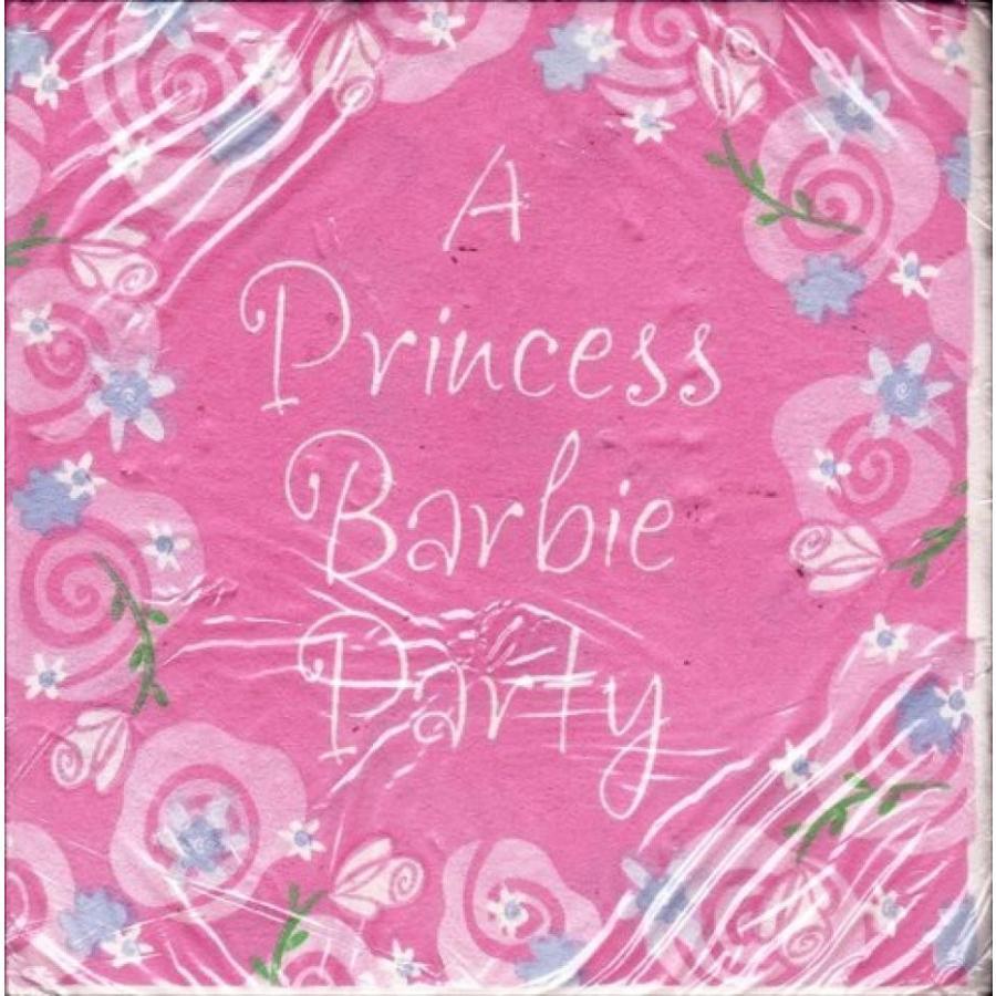 バービー人形 着せ替え おもちゃ Barbie 'Dream Time' Small Napkins (16ct) 輸入品