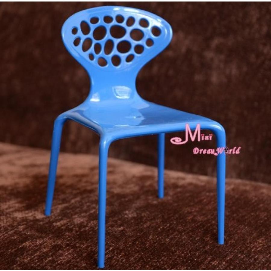 バービー人形 着せ替え おもちゃ 1/6 Scale Barbie Blythe Toy Plastic 青 Art Backrest Chair Dollhouse Miniature 輸入品