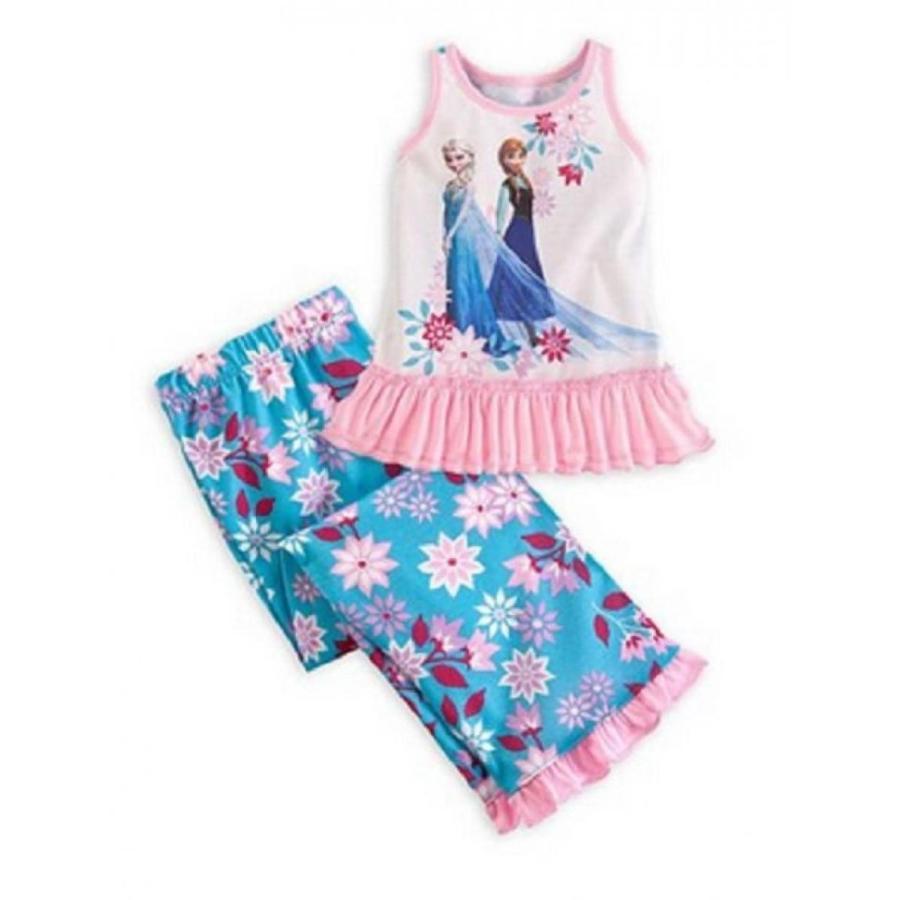 アナと雪の女王 おもちゃ フィギュア Disney Store Frozen Elsa/anna Pajamas Sleep Set Sleepwear Size 2 (New) 輸入品