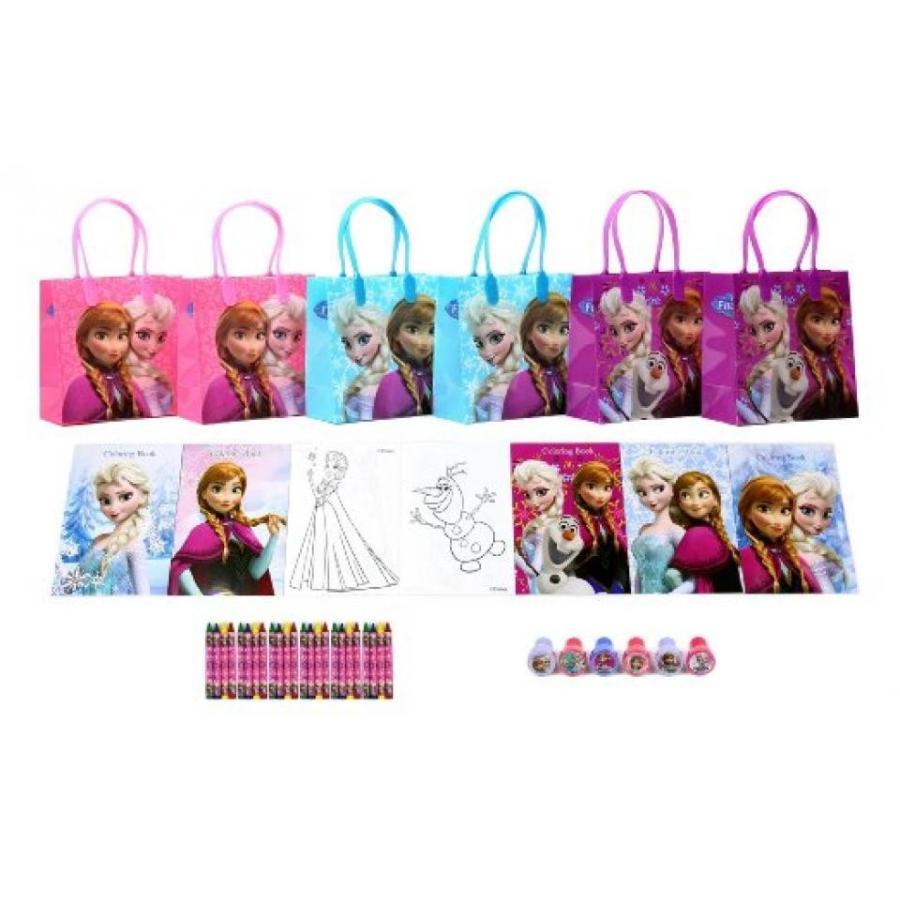 アナと雪の女王 おもちゃ フィギュア Disney Frozen Party Favor Set Style B - 6 Packs (42 Pcs) 輸入品