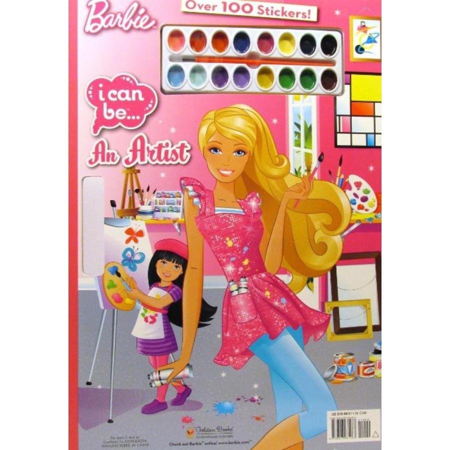 バービー人形 着せ替え おもちゃ Barbie I Can Be an Artist Water Paint 20 Page Coloring Boo
