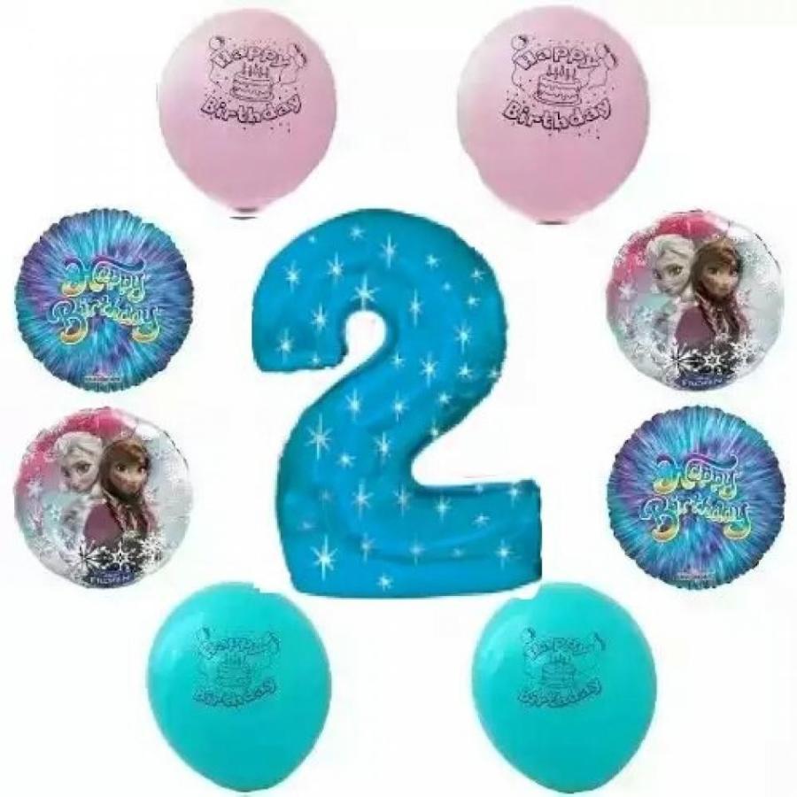 アナと雪の女王 おもちゃ フィギュア Disney Frozen Happy 2nd Birthday Party Balloon Decoration Kit 輸入品