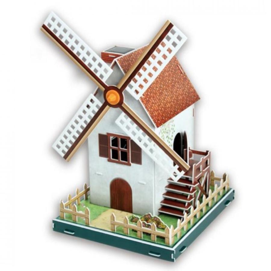 アナと雪の女王 おもちゃ フィギュア 3D Puzzle Solar Powe赤 Windmill Kid's Toy 輸入品