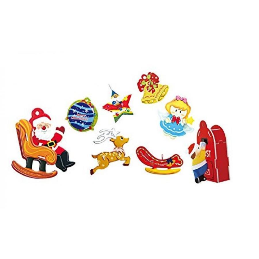 アナと雪の女王 おもちゃ フィギュア 3D Puzzle Christmas Ornament Jigsaw DIY X'mas Kid's Toy 輸入品