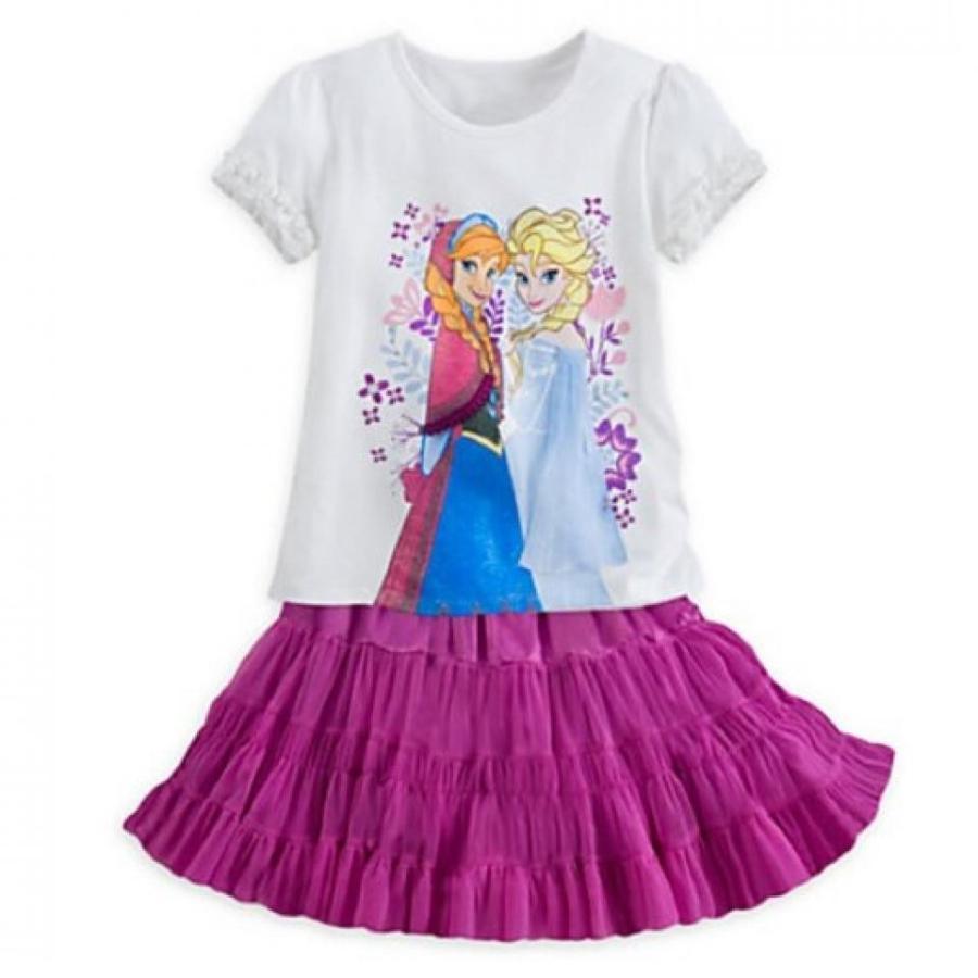 アナと雪の女王 おもちゃ フィギュア Disney - Anna and Elsa Skirt Set - Frozen - Size 7/8 - New with Tag 輸入品