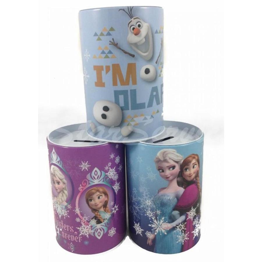 アナと雪の女王 おもちゃ フィギュア 3pc Disney Frozen Anna & Elsa Olaf Tin Bank Birthday Party Favor Decoration 輸入品