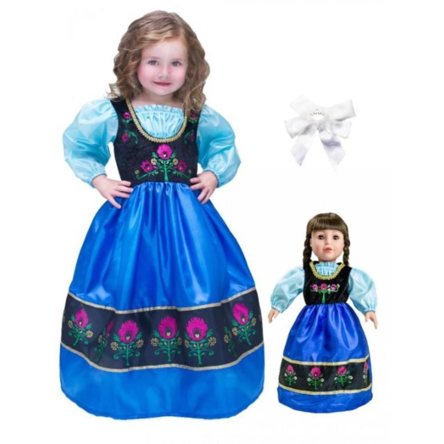 アナと雪の女王 おもちゃ フィギュア Little Adventure Scandinavian Princess Dress Age 7-9 wit