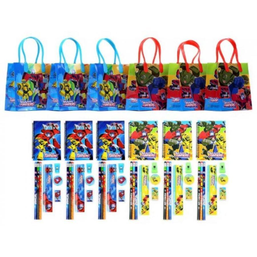 トランスフォーマー おもちゃ 変形 合体ロボ Transformers Party Favor Stationery Set - 6 Pack (54 Pcs) 輸入品