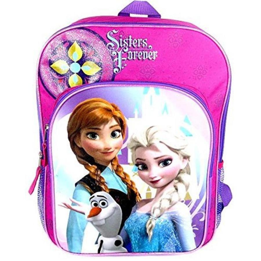 アナと雪の女王 おもちゃ フィギュア Fast Forward Disney Frozen Anna and Elsa with Olaf Backpack - 16in 輸入品