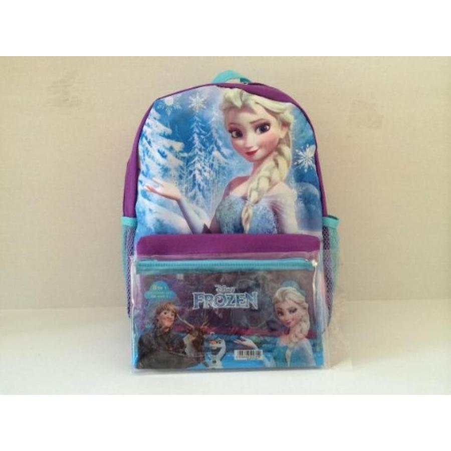 アナと雪の女王 おもちゃ フィギュア Disney Frozen Elsa 12inches Backpack with 1pc Pencil Set 輸入品
