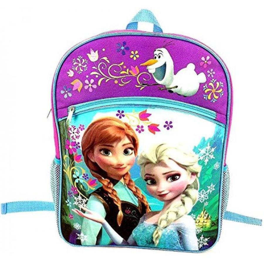 アナと雪の女王 おもちゃ フィギュア Disney Frozen Girl's Large Backpack - ピンク and 紫の with 青 Trim 輸入品
