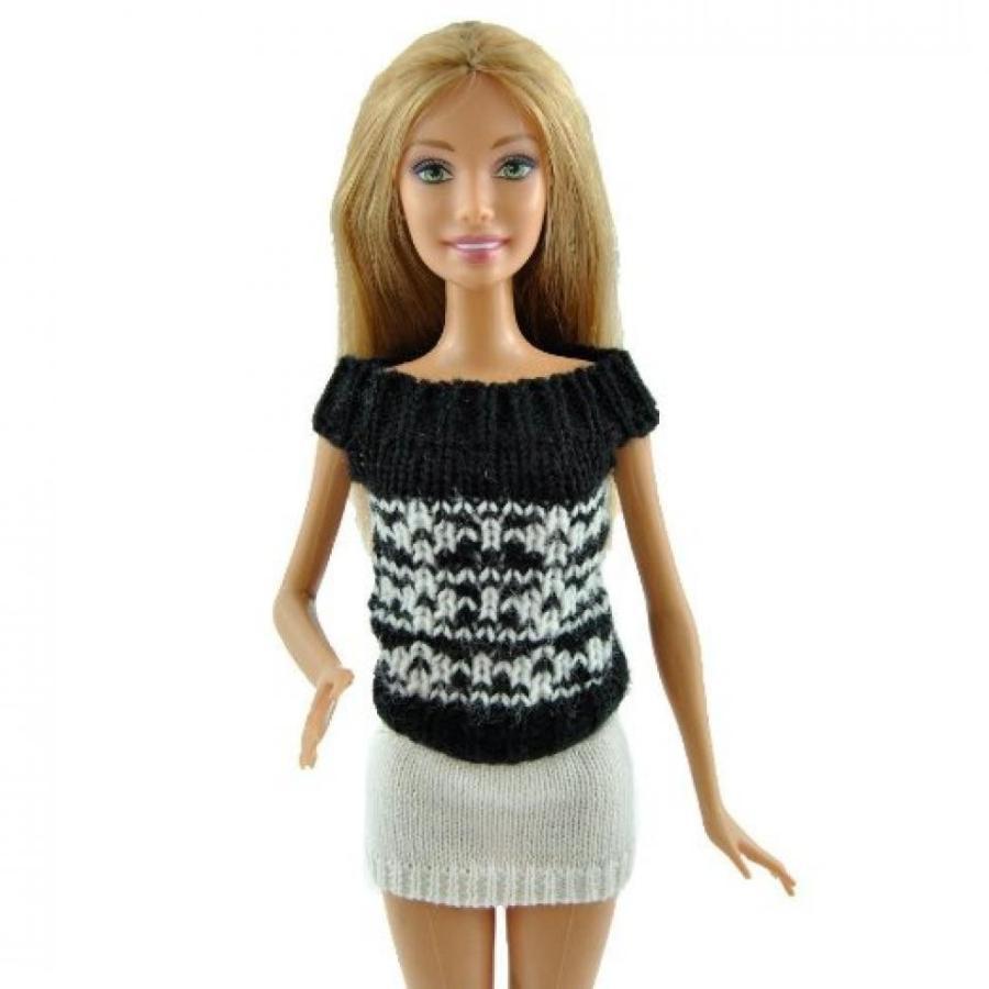 バービー人形 おもちゃ 着せ替え Yiding Fashion Mini Dress Handmade Sweater Casual Wear Clothes For Barbie Doll#5 輸入品