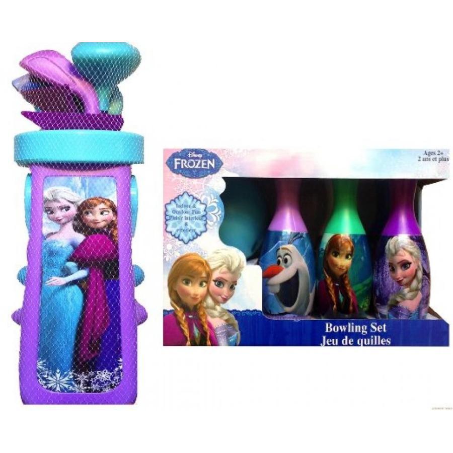 アナと雪の女王 おもちゃ フィギュア Disney Frozen Bowling Set with Disney Frozen Golf Caddy Cart Toy Set 輸入品