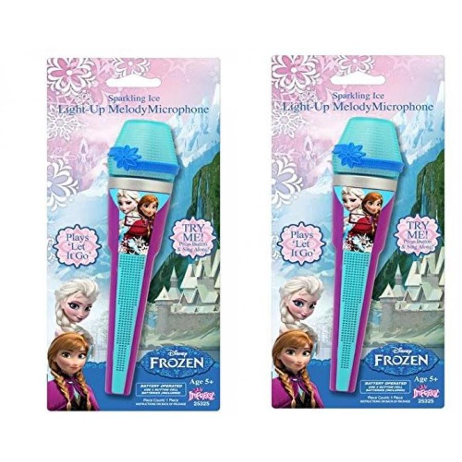 アナと雪の女王 おもちゃ フィギュア Disney Frozen Light Up Melody Microphone x 2 輸入品