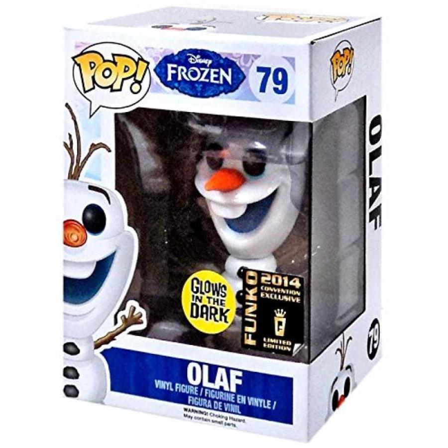 アナと雪の女王 おもちゃ フィギュア 2014 Exclusive Funko Pop Disney Frozen Vinyl Olaf (Glow In The Dark) 輸入品