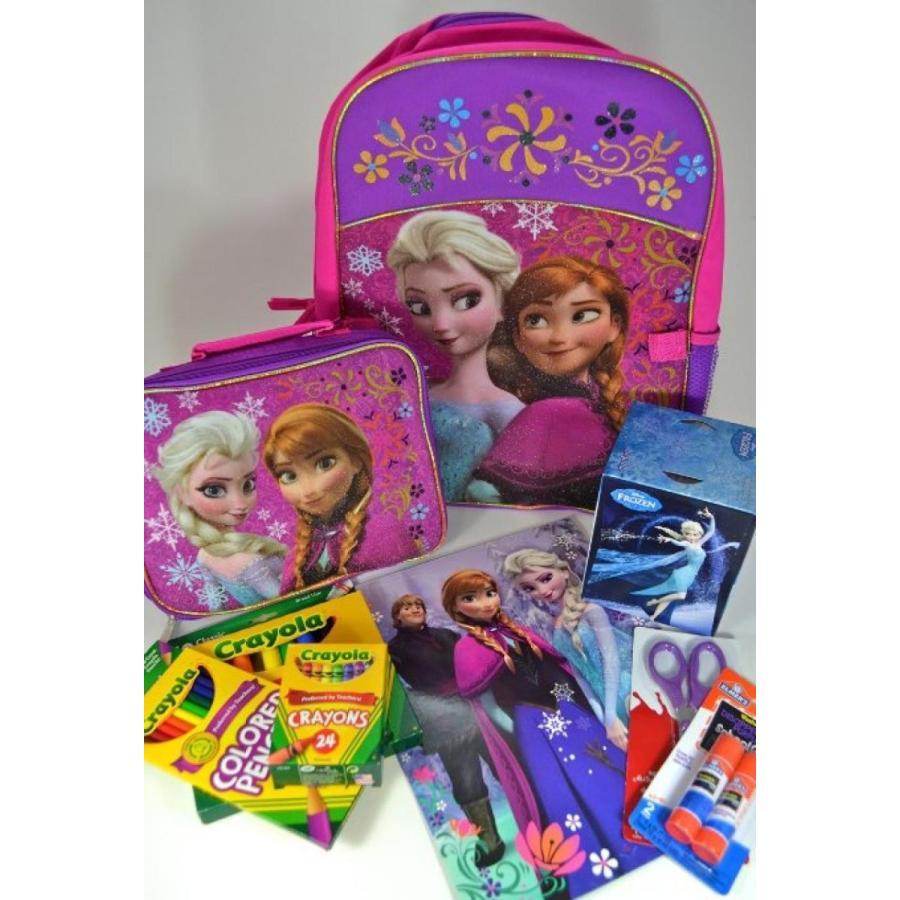 アナと雪の女王 おもちゃ フィギュア Disney Frozen School Bundle with Backpack, Lunch Bag, Fo