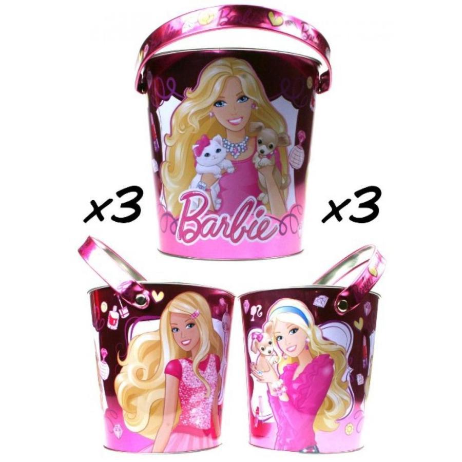 バービー人形 着せ替え おもちゃ Barbie Metal Storage Bucket X 3 - Price is for 3 Buckets 輸入品
