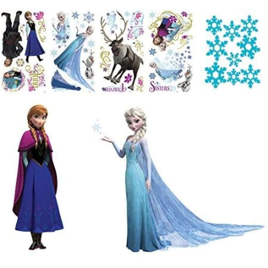 アナと雪の女王 おもちゃ フィギュア Frozen Peel and Stick Wall Decals and Snowflake Decal Bundles 輸入品