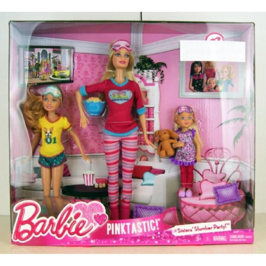 バービー人形 おもちゃ 着せ替え Barbie ピンク-Tastic Sisters Slumber Party (223952188) 輸入品