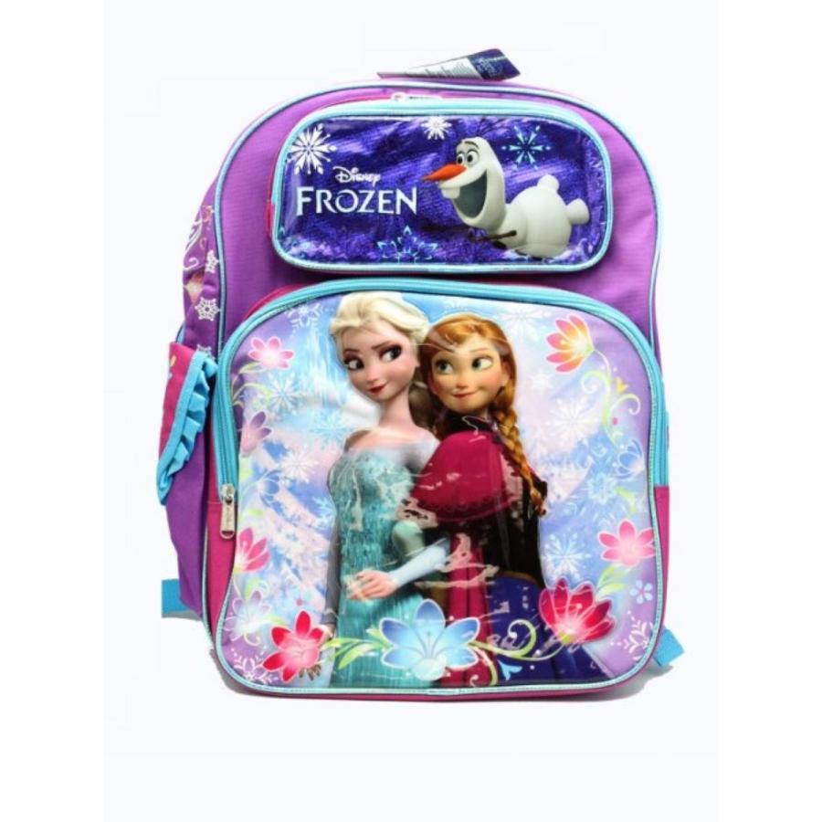 アナと雪の女王 おもちゃ フィギュア Full Size 紫の and 青 Sisters Stick Together Disney Frozen Backpack 輸入品