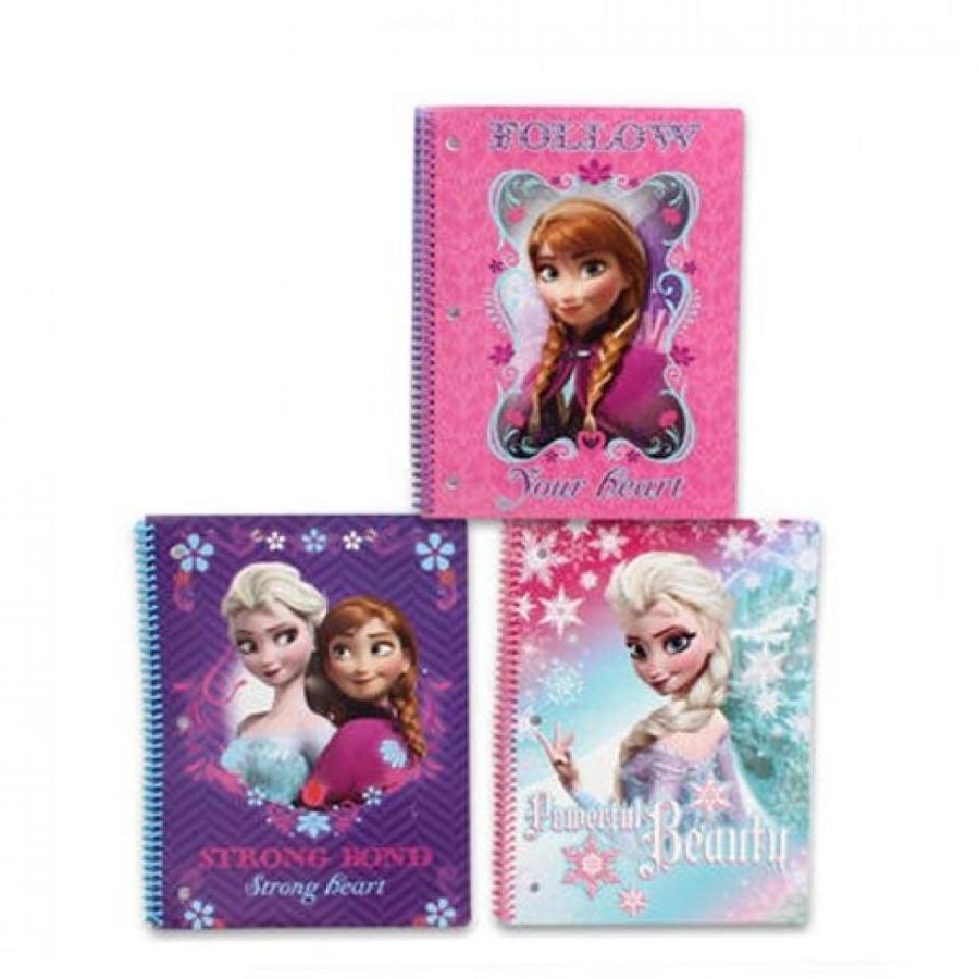 アナと雪の女王 おもちゃ フィギュア Disney Frozen Spiral Notebook 3-pack(3 Designs) 輸入品