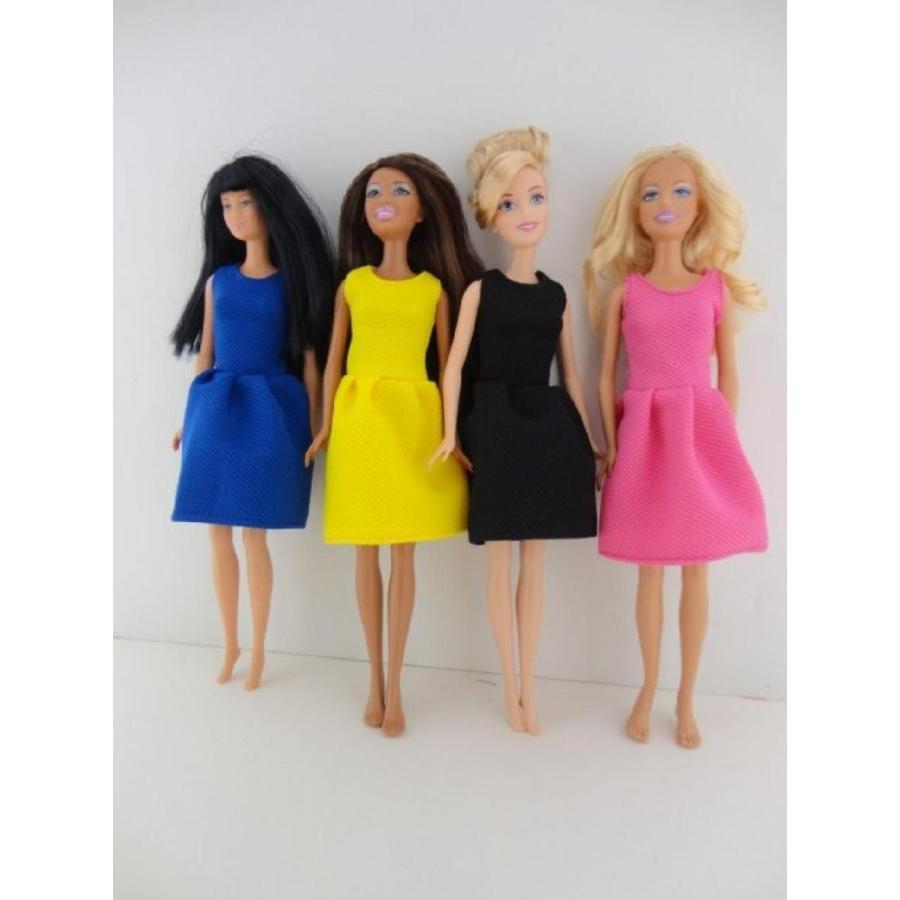 バービー人形 おもちゃ 着せ替え A Set of 4 Great Dresses for the Office or Evening Wear Made to Fit the Barbie Doll 輸入品