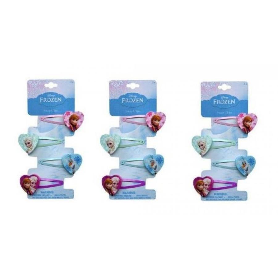 アナと雪の女王 おもちゃ フィギュア Disney Frozen 4 pc Hair Clip x 3 pack 輸入品