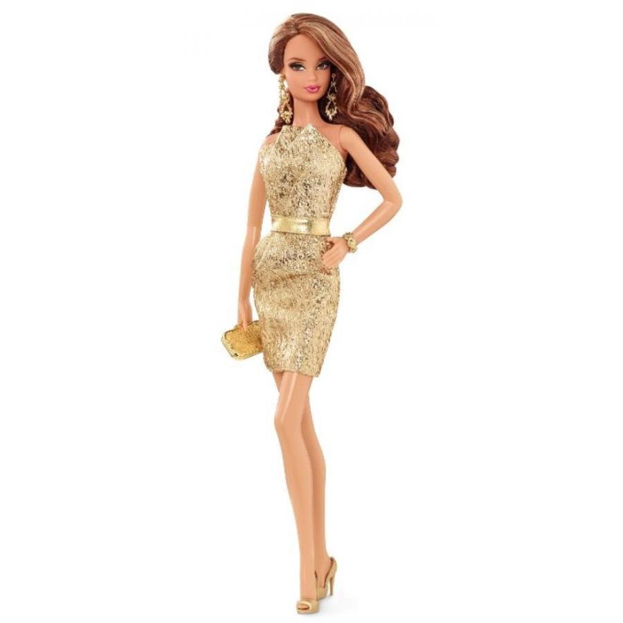 バービー人形 着せ替え おもちゃ Barbie The Look: ゴールド Dress Doll 輸入品
