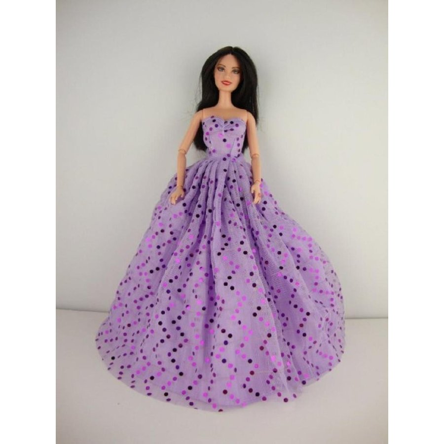 バービー人形 着せ替え おもちゃ A Set of 2 Ball Gowns Called Crazy About 紫の Made to Fit the Barbie Doll 輸入品